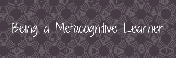 Being a Metacognitive Learner